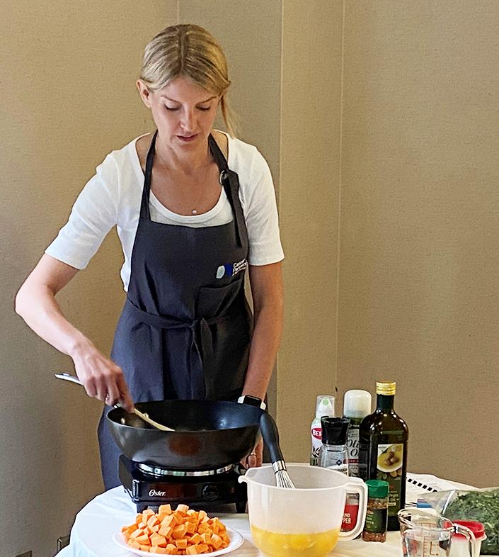 Melanie Mitchell cooking demo